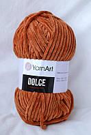 Плюшевая пряжа Yarnart Dolce, рижий, 778