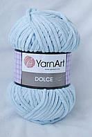 Плюшевая пряжа Yarnart Dolce, голубой, 749