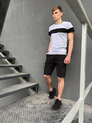 """Футболка Мужская """"Color Stripe"""" Intruder серый - черный, фото 3"""