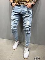 Чоловічі джинси блакитні 2Y Premium 5226, фото 1