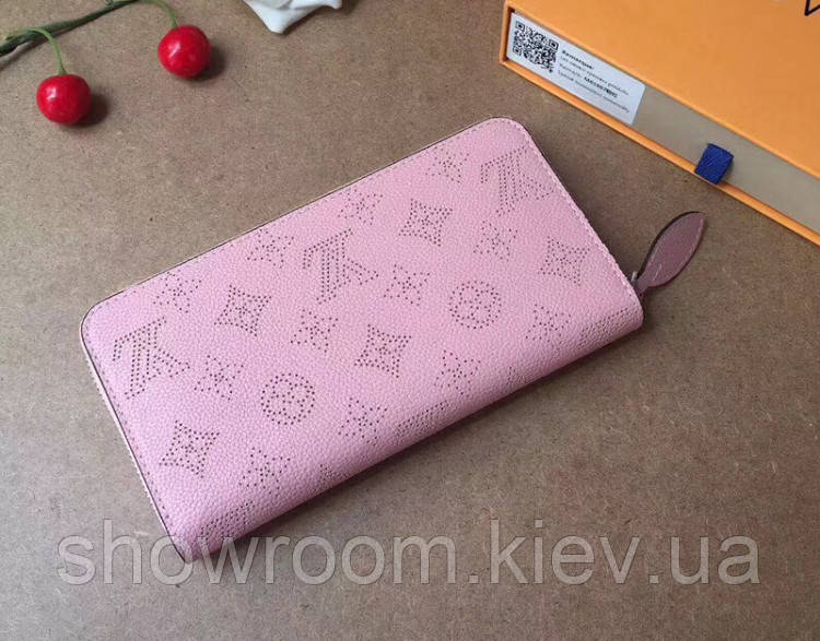 Женский кожаный кошелек LV (61867) pink