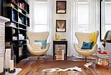 Дизайнерское белое кресло Эгг (Egg) регенерированная кожа СДМ группа (бесплатная доставка), фото 7