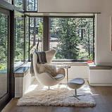 Дизайнерское белое кресло Эгг (Egg) регенерированная кожа СДМ группа (бесплатная доставка), фото 5