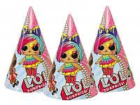 Колпачки, куклы ЛОЛ/LOL (Набор №6) праздничные карнавальные 16 см (1шт)-