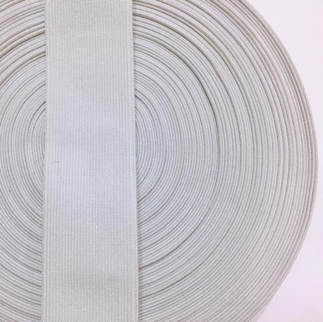 Резинка тканая 040мм цв белый (уп 25м) 3422 Укр-з