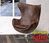 Кресло Эгг (Egg) кожа цвет коричневый (бесплатная доставка), фото 6