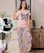 Пижама женская футболка и брюки хлопок 100 % Т.М SAFIR Турция № 574