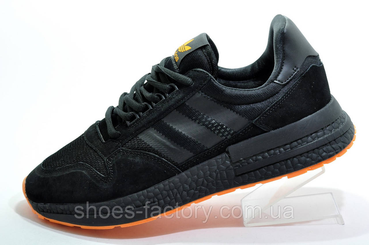 Мужские кроссовки в стиле Adidas ZX 500 Boost, Black\Orange