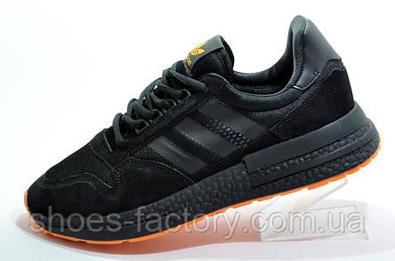 Мужские кроссовки в стиле Adidas ZX 500 Boost, Black\Orange, фото 2