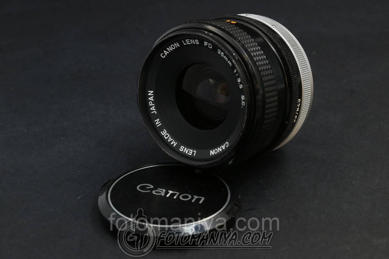 Canon FD 35mm f3.5 S.C