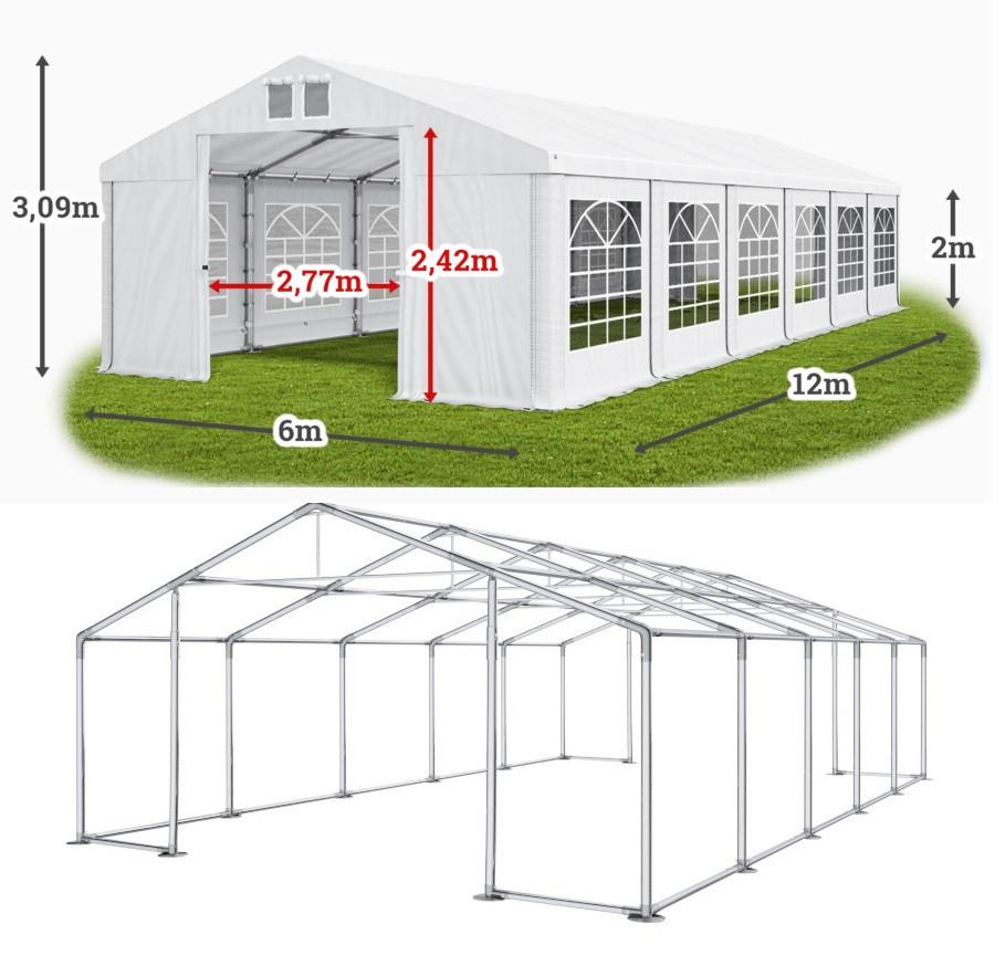 Шатер 6х12 ПВХ 560 г/м2 с мощным каркасом торговый павильон палатка тент ангар гараж склад
