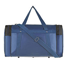 Дорожная сумка Wallaby размер  54х32х24 ткань нейлон 420 Ден синяя  в 340син ч, фото 2