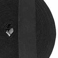 Резинка тканая мягкая 035мм цв черный (уп 25м) 2122 Укр-б