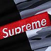 Футболка мужская черная с бел камуфляжем SUPREME с патчем Ф-10 BLK/K-3 L(Р) 20-832-020, фото 6