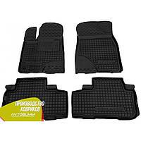 Резиновые коврики в салон Toyota Highlander 3 тойота хайлендер 3 2014- (Avto-Gumm) Автогум
