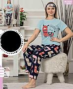 Пижама женская футболка и брюки хлопок 100 % Т.М SAFIR Турция МНОГО МОДЕЛЕЙ