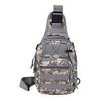 Тактическая сумка-рюкзак, барсетка, бананка на одной лямке, пиксель.