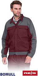 Куртка мужская Bomull рабочая серая REIS Польша (рабочая одежда мужская) BOMULL-J BEBR