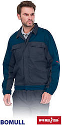 Куртка мужская Bomull рабочая серая REIS Польша (рабочая одежда мужская) BOMULL-J DSN