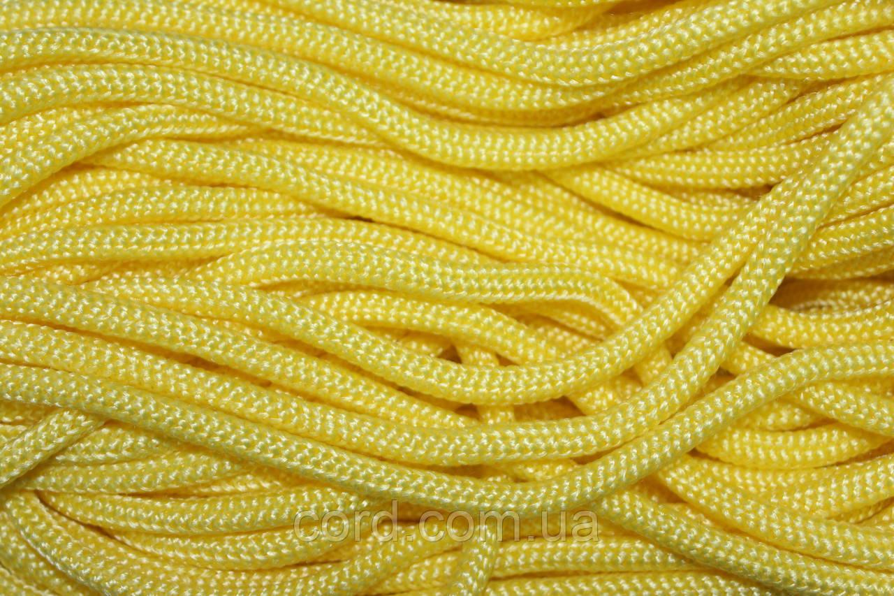Шнур круглый 6мм Полипропилен 100м желтый