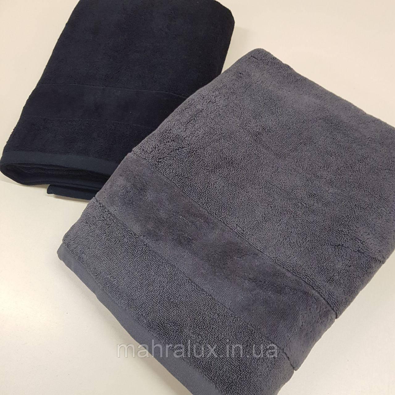 Банные махровые полотенца Чёрное и серое