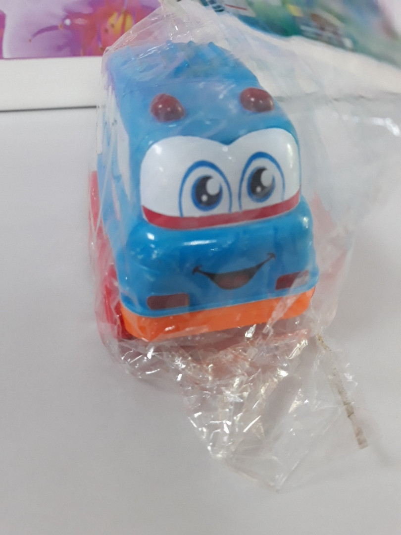 Маленькая машинка Bus голубая