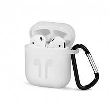 Чохол для навушників AirPods (білий) Silicone Case