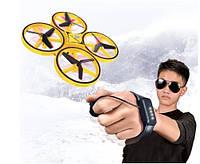 Квадрокоптер Дрон Drone Tracker с управлением жестами Желтый