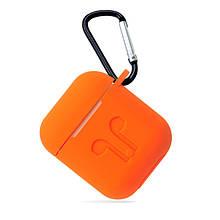 Чохол для навушників AirPods (помаранчевий) Silicone Case