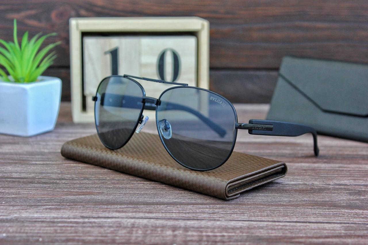 Очки мужские авиаторы солнцезащитные BVLGARI (окуляри чоловічі сонцезахисні).