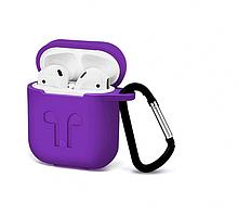Чохол для навушників AirPods (фіолетовий) Silicone Case