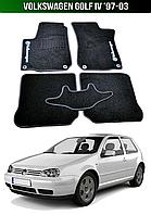 Коврики Volkswagen Golf IV '97-03. Текстильные автоковрики Фольксваген Гольф 4 Фольцваген