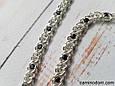 Серебряное женское колье Арабский Бисмарк с черно-белыми камнями. 50-55 см. Вес 23.75 гр. 925 проба, фото 3