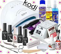 Стартовый набор Kodi Professional для покрытия гель лаком с Лампой Sun One 48 W и фрезером Lina