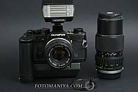 Olympus OM-2 kit Zuiko 50mm f1,8 + Zuiko 75-150mm f4.0 + winder, фото 1