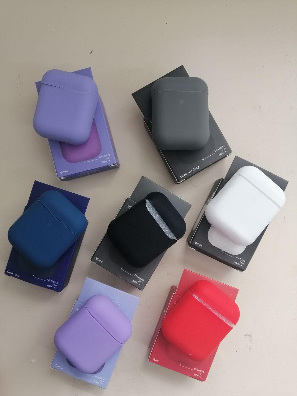 Чехол для наушников AirPods Silicone Case тонкий (в ассортименте)