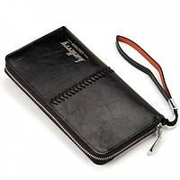Мужской клатч-портмоне Baellerry Leather SW008 Черный
