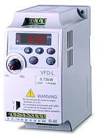 Преобразователь частоты 0,75кВт, 1ф. 230В, скалярный, VFD007L21E