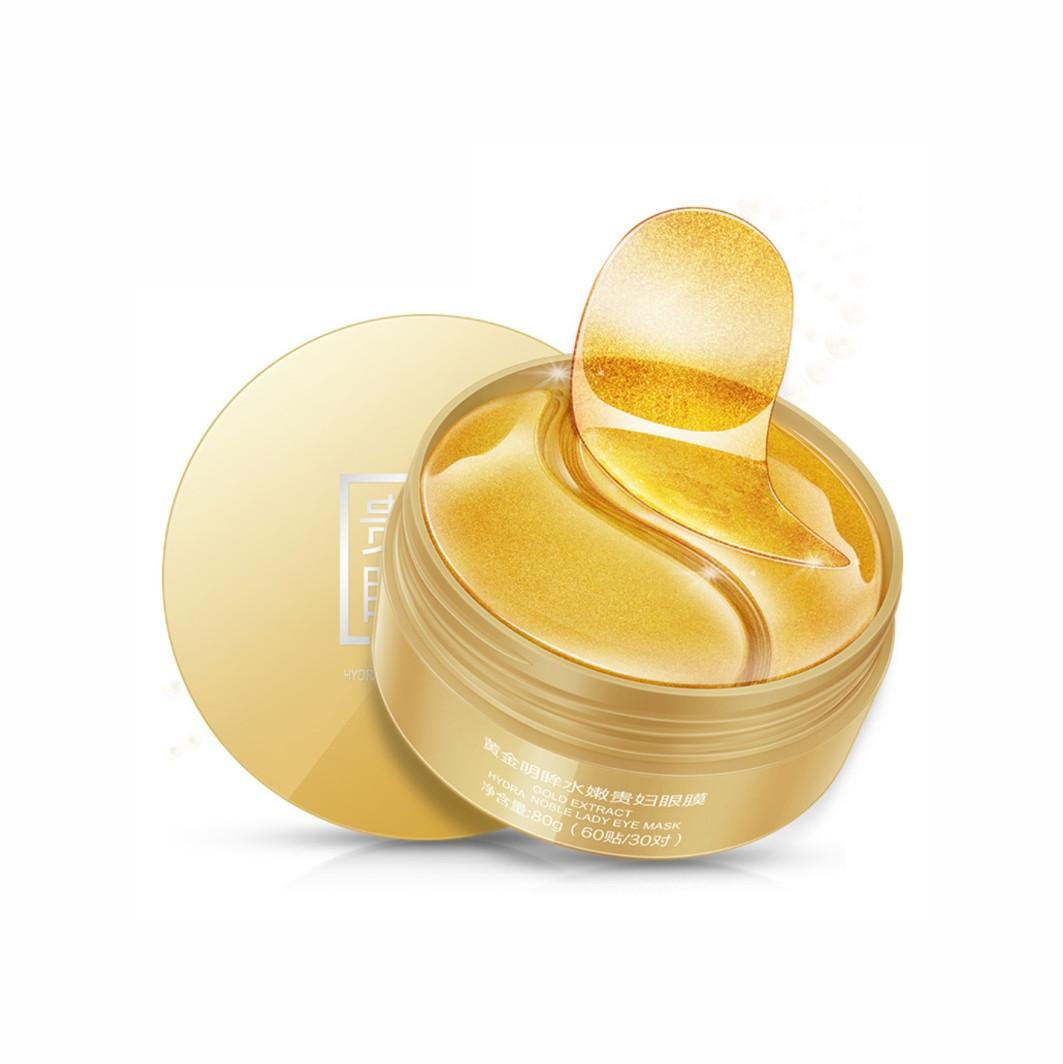 Гідрогелеві патчі з частинками золота OneSpring Gold Extract Hydra Noble Lady Eye Mask
