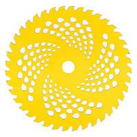 Нож к мотокосе 40 зуб. (нерж. сталь) в уп. Желтый, 225x25.4 мм (57252)