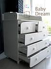 Комод пеленальный с 5 ящиками Kids Baby Dream орех темный, фото 8