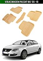 3D Коврики Volkswagen Passat B6 '05-10. Текстильные автоковрики Фольксваген Пассат Б6 Фольцваген