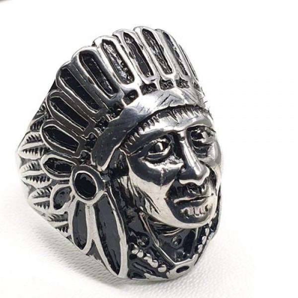 Чоловіче кільце Вождь племені з медичної сталі 175931