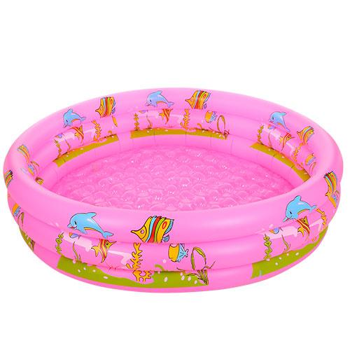 Розовый детский надувной бассейн Bestway D25655 круглый