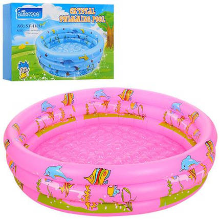 Розовый детский надувной бассейн Bestway D25655 круглый, фото 2