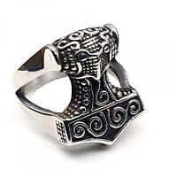 Мужское кольцо Молот Тора из медицинской стали 175932, фото 1