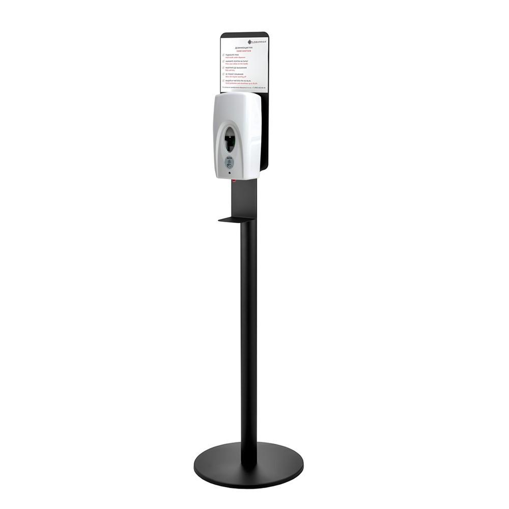 Купить Напольная стойка-держатель для дозатора дезинфекции рук хромированная поставка c сенсорным дозатором