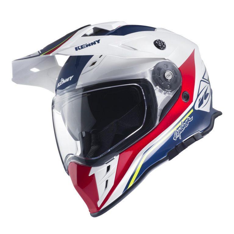 Шлем кроссовый Kenny Explorer 2017 White/Red/Blue