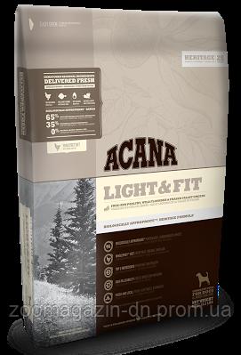 Cухой корм Acana Light&Fit для взрослых собак всех пород с избыточным весом, на основе цыпленка 11,4 кг