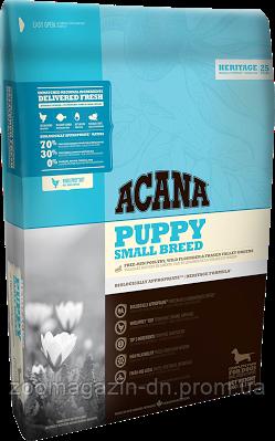 Cухой корм Acana Puppy Small Breed для щенков мелких пород, на основе цыпленка и рыбы, 2 кг